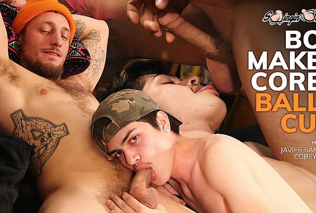 Boy Makes Corey Balls Cum